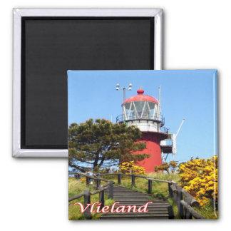 Isla-Vlieland-faro del NL-Países Bajos-Frisian Imán Cuadrado