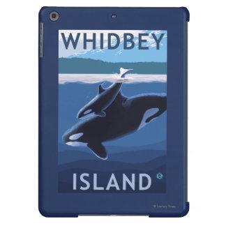 Isla, WashingtonOrca y becerro de Whidbey Funda Para iPad Air