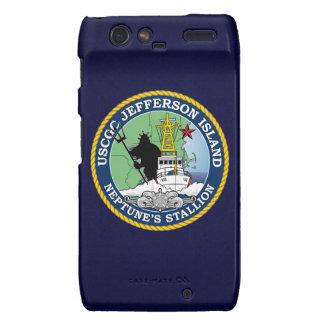 "Isla WPB-1340 ""azules marinos "" de USCGC Jefferson Motorola Droid RAZR Carcasa"