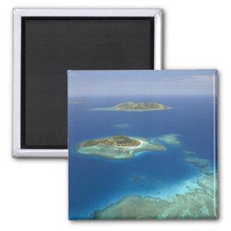 Isla y arrecife de coral, isla de Matamanoa de Mam Imán Para Frigorifico