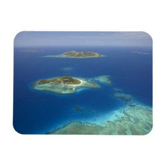 Isla y arrecife de coral, isla de Matamanoa de Mam Imán De Vinilo