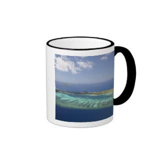 Isla y arrecife de coral, islas de Mana de Mamanuc Tazas De Café