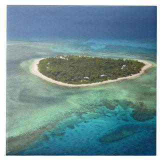 Isla y arrecife de coral, islas de Tavarua de Mama Azulejo Cuadrado Grande