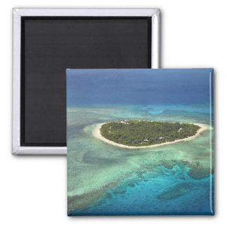 Isla y arrecife de coral, islas de Tavarua de Mama Imanes Para Frigoríficos