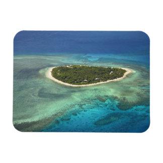 Isla y arrecife de coral, islas de Tavarua de Mama Imán Rectangular