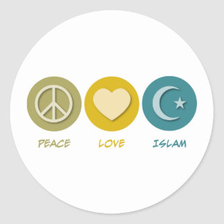 Islam del amor de la paz pegatinas redondas