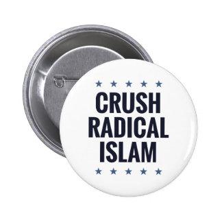 Islam del radical del agolpamiento pin redondo de 2 pulgadas