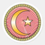 Islam Icon Round Stickers