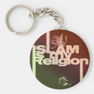 Islam is my Religion - Islamic  Arabic print Keychain