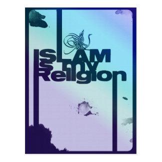 Islam is my Religion - Islamic  Arabic print Postcard