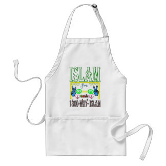 Islam is peace & love & happiness adult apron