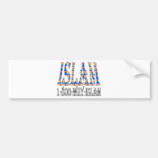 Islam is peace & love & happiness bumper sticker