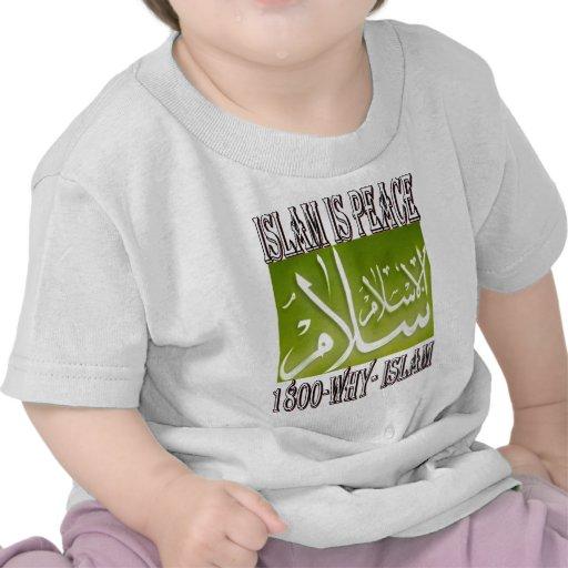 Islam is peace & love & happiness . ISLAM t shirt.