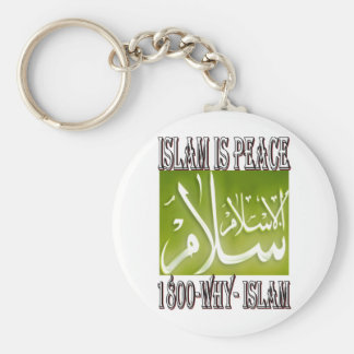 Islam is peace love happiness ISLAM t shirt Key Chains