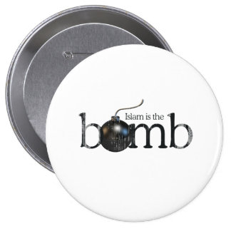 Islam is the bomb Faded.png Pinback Button