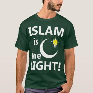 ISLAM IS THE LIGHT T-Shirt - dark both sides.