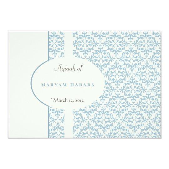 islam islamic damask aqeeqa aqiqah baby muslim invitation
