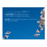 Islam islamic quran verse salaam salam blossom postcards