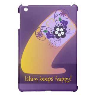 Islam keeps happy big letter flower print iPad mini cover