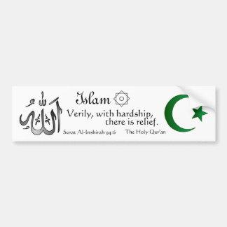 Islam - pegatina para el parachoques del paso pegatina para auto