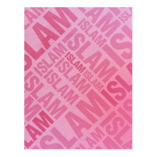 Islam - Pink Typography Postcard