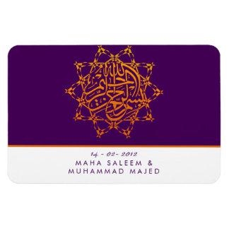 Islam save the date wedding bismillah islamic star magnet