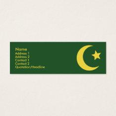 Islam - Skinny Mini Business Card at Zazzle