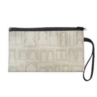 Islamic and Moorish arch designs for balconies, wi Wristlet Purse