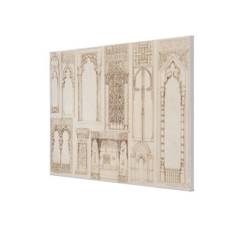 Islamic and Moorish design for shutters and divans Stretched Canvas Prints