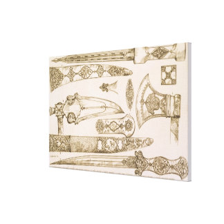 Islamic and Moorish designs for knife blades, from Stretched Canvas Prints