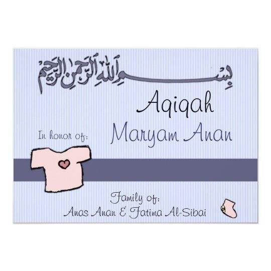 islamic aqiqa invitation  baby celebration  zazzle