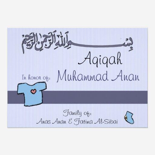 Custom Islamic Aqiqah Invites Templates Babyfavors4u