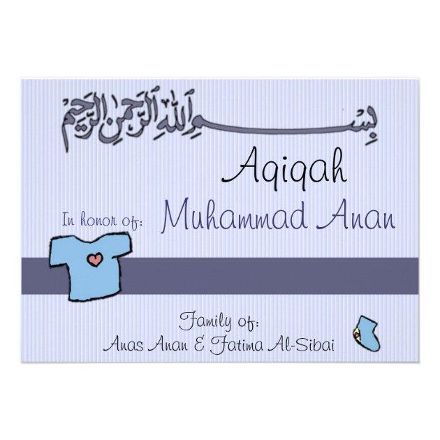 Islamic Aqiqa Invitation Baby Celebration