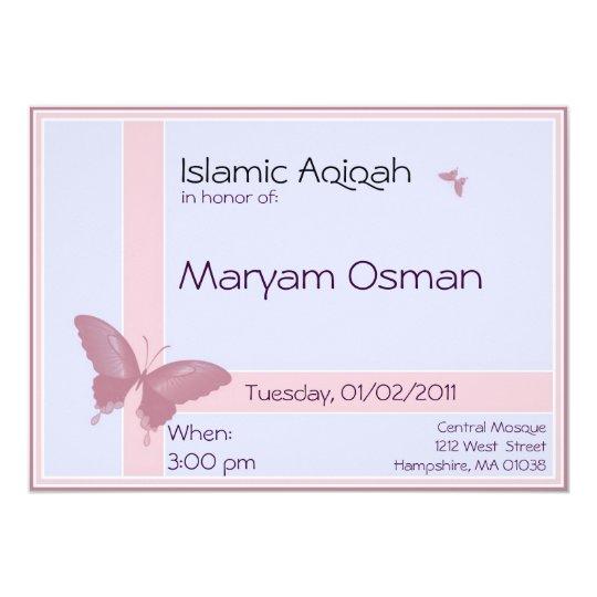 Islamic Aqiqa Invitation Baby Girl Celebration Zazzle Com
