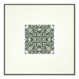 Islamic Arabic green ornament engagement wedding Card