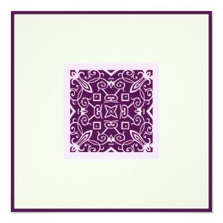 Islamic Arabic purple ornament engagement wedding Card