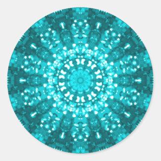 Islamic art blue geometric design sticker