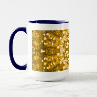 Islamic art gold geometric mug