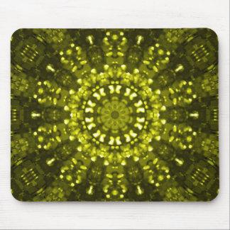 Islamic art green geometric mouse pad