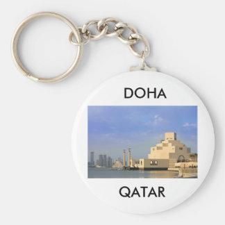 Islamic Art Museum, Doha, Qatar Basic Round Button Keychain