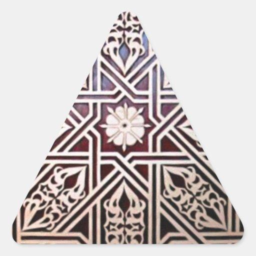 islamic art patterns - 5 triangle sticker