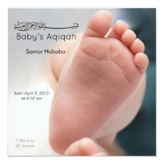Islamic baby foot feet aqiqah birth invitation