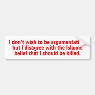 islamic belief bumper sticker