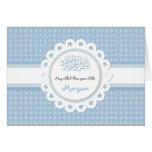 Islamic blue Aqeeqah baby birth congratulation Greeting Card