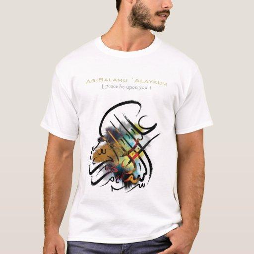 Islamic Calligraphy As Salamu Alaykum T Shirt Zazzle