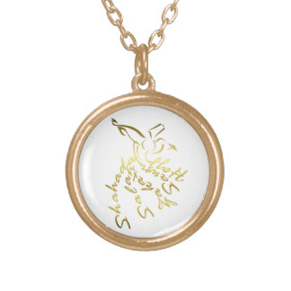 İslamic Calligraphy Gold Plated Necklace