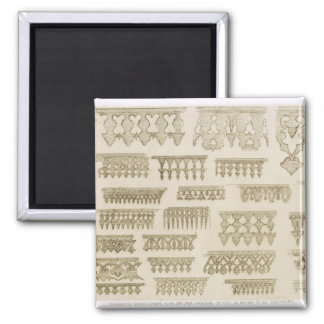Islamic designs for cornice, balcony and mashrabiy fridge magnet