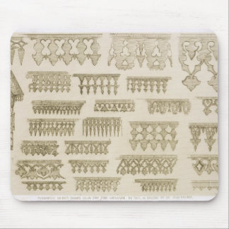 Islamic designs for cornice, balcony and mashrabiy mouse pad