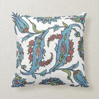 Islamic Floral Ceramic Tile #1 Throw Pillow