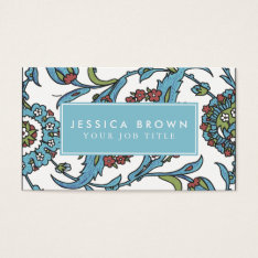 Islamic Floral Ceramic Tile Business Card Template at Zazzle